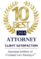 American Institution of Criminal Law Attorneys - Client Satisfaction Award 2018